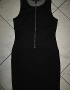 ZARA czarna sukienka z siateczką sexi roz 36