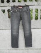 grafitowe Spodnie S M jeans ONLY
