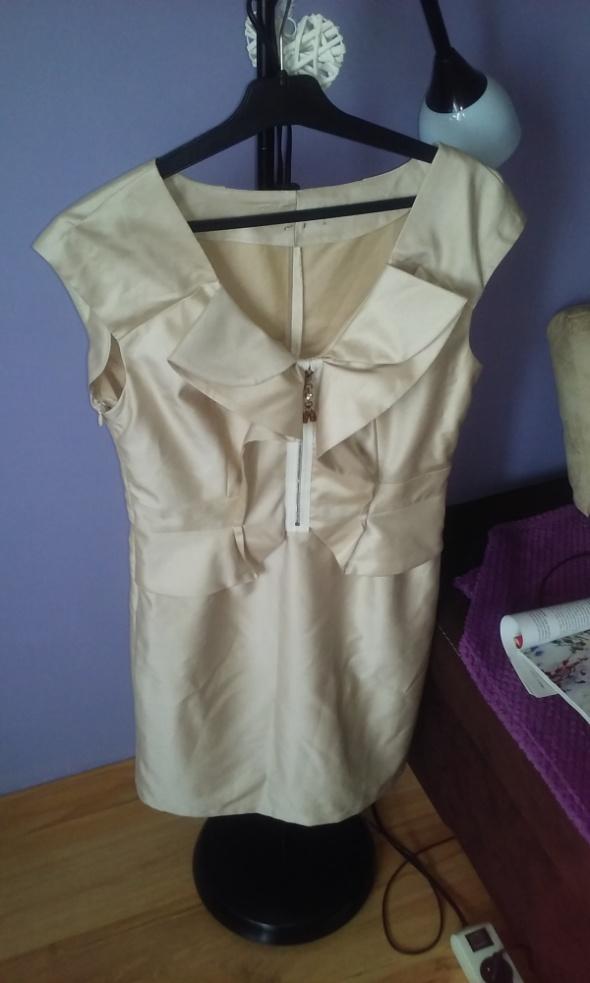Suknie i sukienki sukienka beżowa komunia wesele M