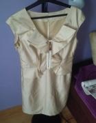 sukienka beżowa komunia wesele M