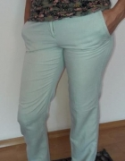 beżowe spodnie Mango M