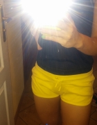 Żółte spodenki S