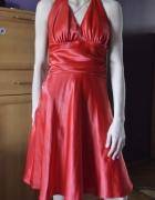 czerwona sukienka 38 M