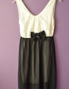 bała czarna sukienka koronkowa 34 36 S