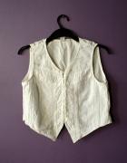 biala haftowana bluzka koronka H&M 38 40 M L