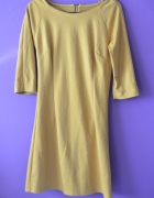żółta sukienka długi rękaw 36 S
