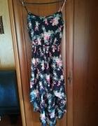 Kwiecista sukienka NEW LOOK długi tył rozm XS