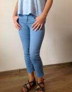 Spodnie rurki niebieskie