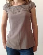 Bluzka z wiskozy z krótkimi rękawami
