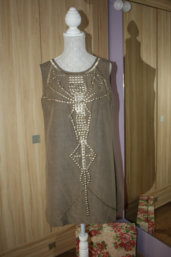 Sukienka tunika khaki