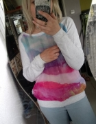 Bluza z printem siateczka
