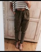 Spodnie bojówki khaki S