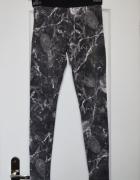 Legginsy marmur marmurowe minimalizm S 36 M 38