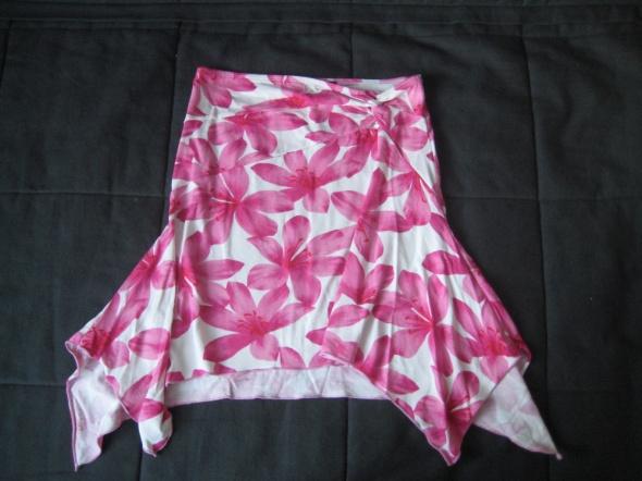 JANE NORMAN spódnica 36 w kwiaty asymetryczna