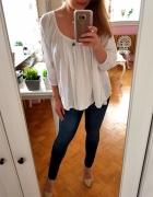 Biała bluzka bawełna S 36