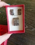 Srebrny zestaw kolczyków i zawieszki