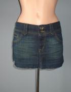 Jeansowa mini spódniczka Miss Selfridge M