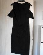Zara nowa czarna sukienka ołówkowa gołe ramiona