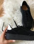 Sportowe czarne buty tenisówki ZARA r37