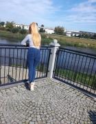 Super legginsy jeans double push up