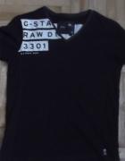 Czarna oryginalna Gstar z nadrukiem L