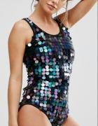 strój kąpielowy z cekinami by Asos M
