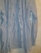 Elegancka koszuka ZARA niebieska 36 S...