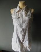 Biała tunika sukienka sportowa mini rozmiar S