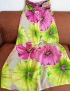 Sliczna dluga sukienka w kwiaty Miso rozmiar S do M...