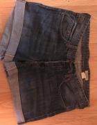 jeansowe szorty boyfriend h&m