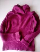 Świetny różowy sweter golf Camaieu