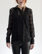 OKAZJA CENOWA H&M Czarna koronkowa koszula...