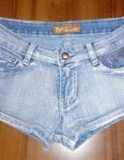 Krótkie spodenki jeans xs s