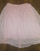 Koronkowa spódnica pudrowy róż rozmiar 12 lat
