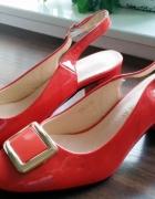 koralowe buty 38 Sergio Leone nowe