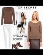 Brązowy czekolada sweter 34 36