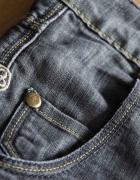Antracytowe jeansowe szorty z przetarciami Bik Bok