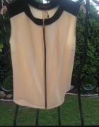 bluzka zip zamek kremowa s