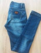 Spodnie rurki GRANATOWE 36 38