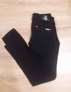 Spodnie czarne rurki 36 S