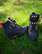 Czarne sneakersy buty na koturnie 37 cwieki zipy Deezee