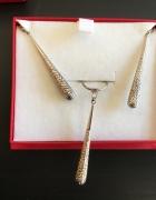 Komplet biżuterii srebro kij baseballowy SEZAM