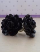 Koczyki czarne kwiatki
