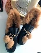 Nowe mokasyny model Gucci roz 38 naturalne futro