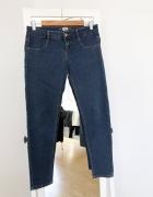 spodnie jeansowe rurki 38 M pull&bear skinny obcisłe ciemny jeans dżins skinny
