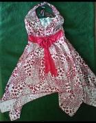 asymetryczna sukienka zwiewna lekka...