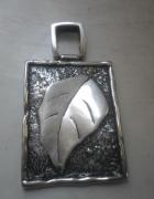 Srebrny artystyczny masywny wisior część kompletu 14 gr