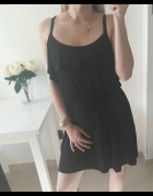 George sukienka czarna zwiewna falbanka guma w pasie XL