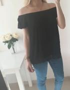 Bluzka czarna koronka na dole XL