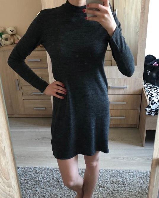 edadae3022 Sukienka dresowa z długim rękawem w Suknie i sukienki - Szafa.pl